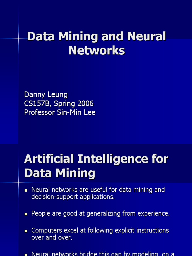 application of neural network in data mining