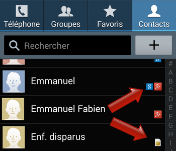 application carnet d adresse android
