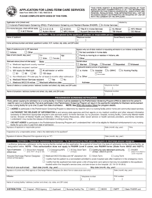 application for reduction in long term care