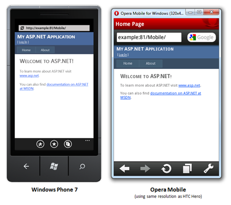 asp net mobile application example