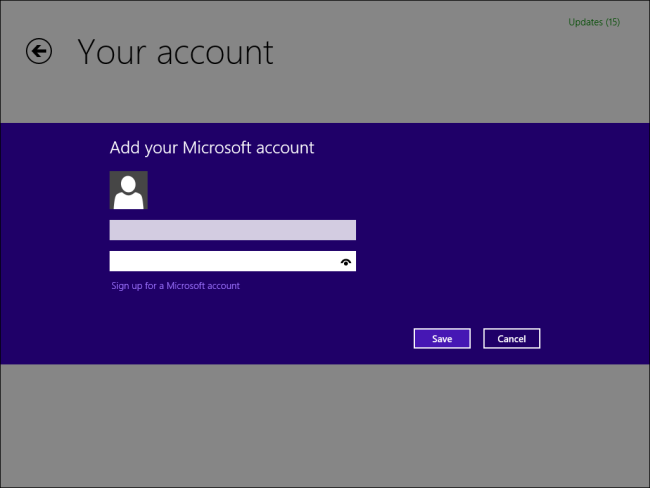 installed application is from a different account