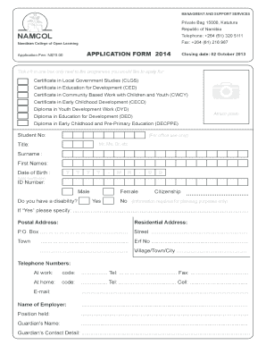 netcare application form for 2018