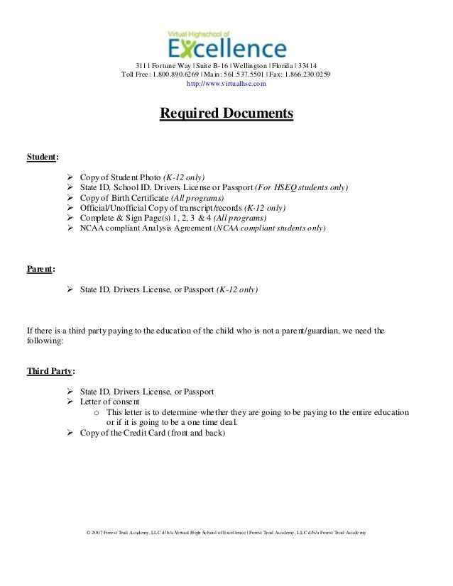 school of excellence application form